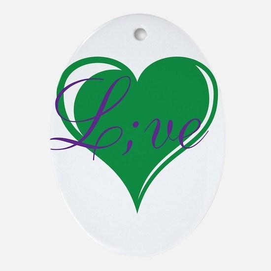 mental health awareness live Oval Ornament