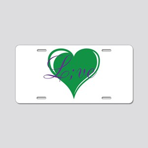 mental health awareness live Aluminum License Plat