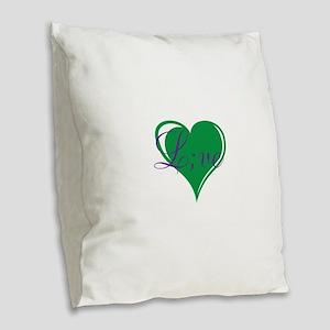 mental health awareness live Burlap Throw Pillow
