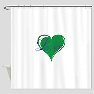 mental health awareness live Shower Curtain