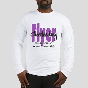 Cheer Flyer Purple Long Sleeve T-Shirt