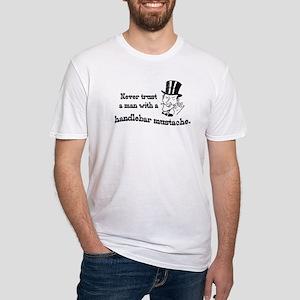 Handlebar Mustache Fitted T-Shirt