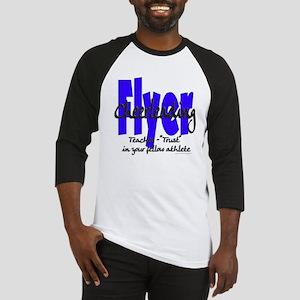 Cheer Flyer Blue Baseball Jersey