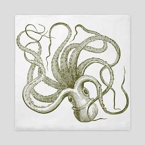 vintage octopus Queen Duvet