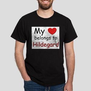 My heart belongs to hildegard Ash Grey T-Shirt