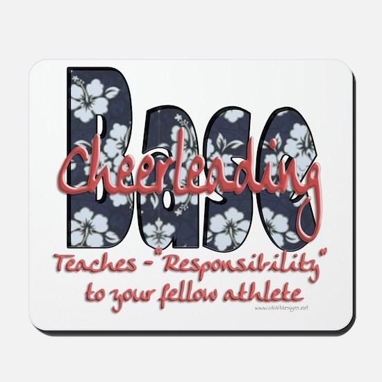 Cheer Base Blue Floral Mousepad