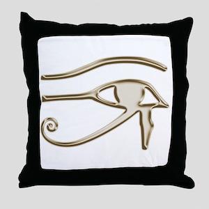 Golden Eye Of Horus Throw Pillow