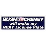MY NEXT LICENSE PLATE Bumper Sticker