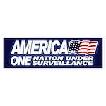 AMERICA - ONE NATION UNDER Bumper Sticker