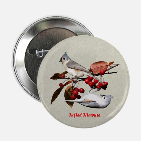 "Tufted Titmouse 2.25"" Button"