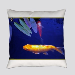 Golden Koi Everyday Pillow
