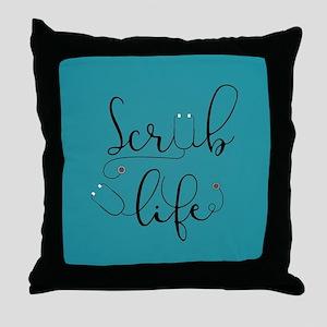 Scrub Life Throw Pillow