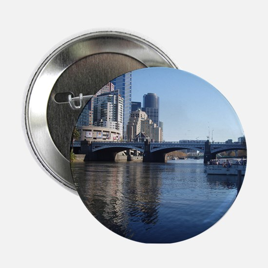 "Melbourne Yarra River 2.25"" Button"