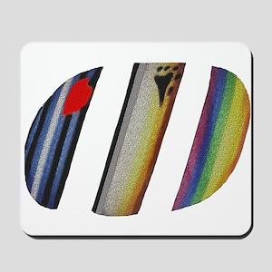 3 PRIDE SYMBOLS/SLANTED Mousepad