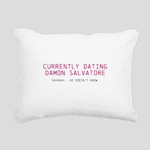 Currently Dating Damon Rectangular Canvas Pillow