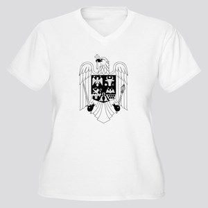 Stema/Seal BW Women's Plus Size V-Neck T-Shirt