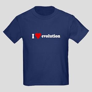 I Love Evolution Kids Dark T-Shirt