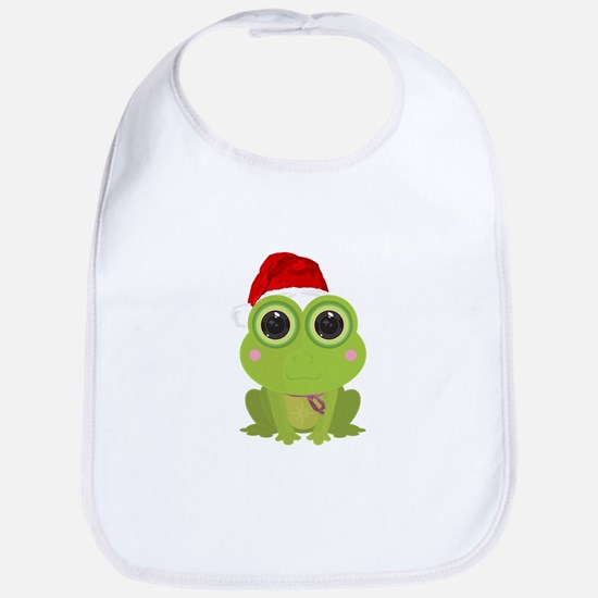 Christmas Frog Bib