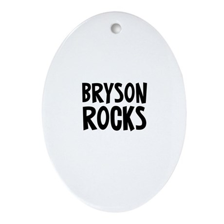 Bryson Rocks Oval Ornament