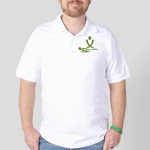 Green massage design Golf Shirt