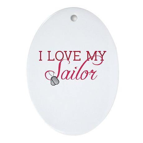 I love my Sailor Oval Ornament