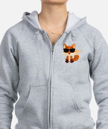 Unique Fox Zip Hoodie