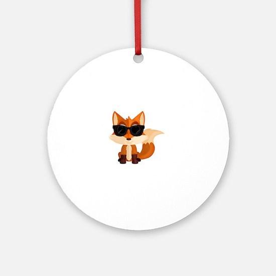 Cute Foxy Round Ornament