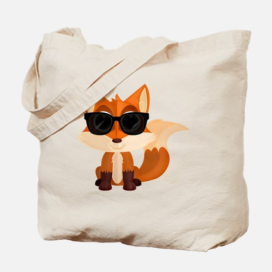 Cute Red fox Tote Bag