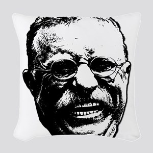 Laughing Teddy Woven Throw Pillow
