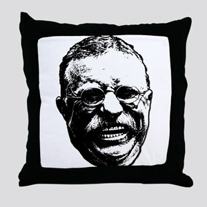Laughing Teddy Throw Pillow