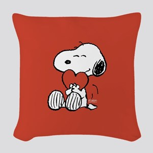 Peanuts: Snoopy Heart Woven Throw Pillow