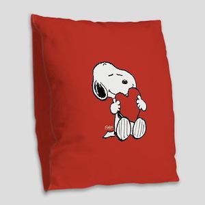 Peanuts: Snoopy Heart Burlap Throw Pillow