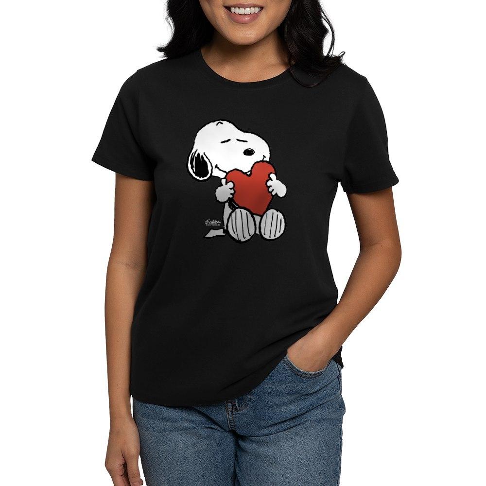 CafePress-Peanuts-Snoopy-Heart-T-Shirt-Women-039-s-Cotton-T-Shirt-181895729 thumbnail 4