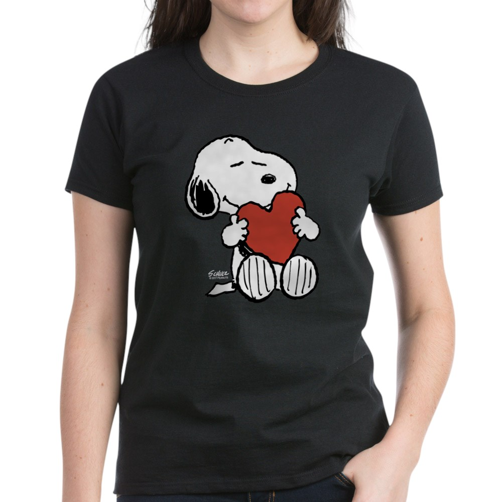 CafePress-Peanuts-Snoopy-Heart-T-Shirt-Women-039-s-Cotton-T-Shirt-181895729 thumbnail 8