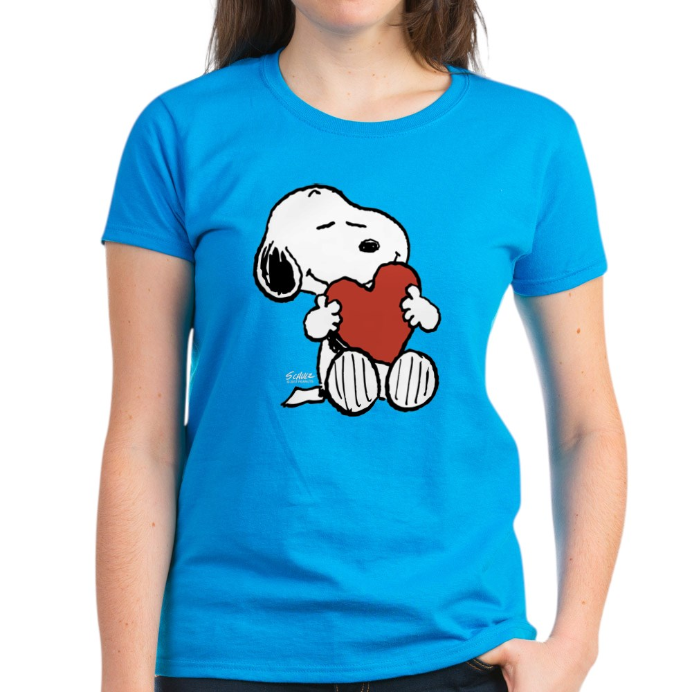 CafePress-Peanuts-Snoopy-Heart-T-Shirt-Women-039-s-Cotton-T-Shirt-181895729 thumbnail 45