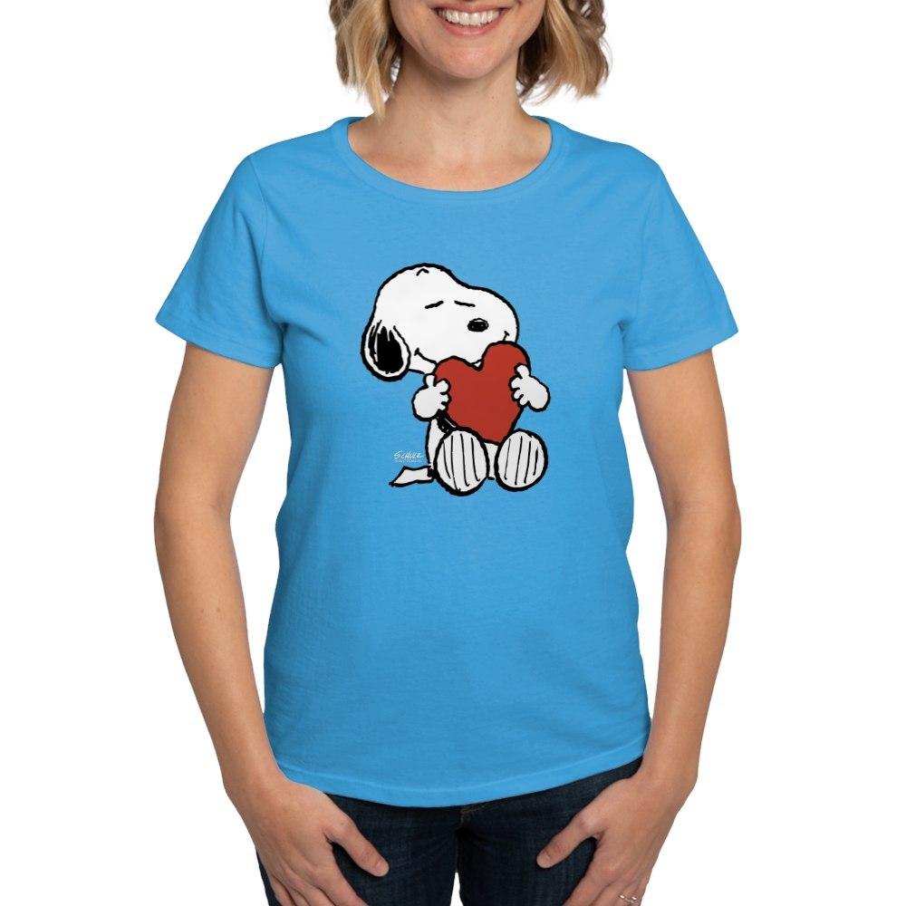 CafePress-Peanuts-Snoopy-Heart-T-Shirt-Women-039-s-Cotton-T-Shirt-181895729 thumbnail 47