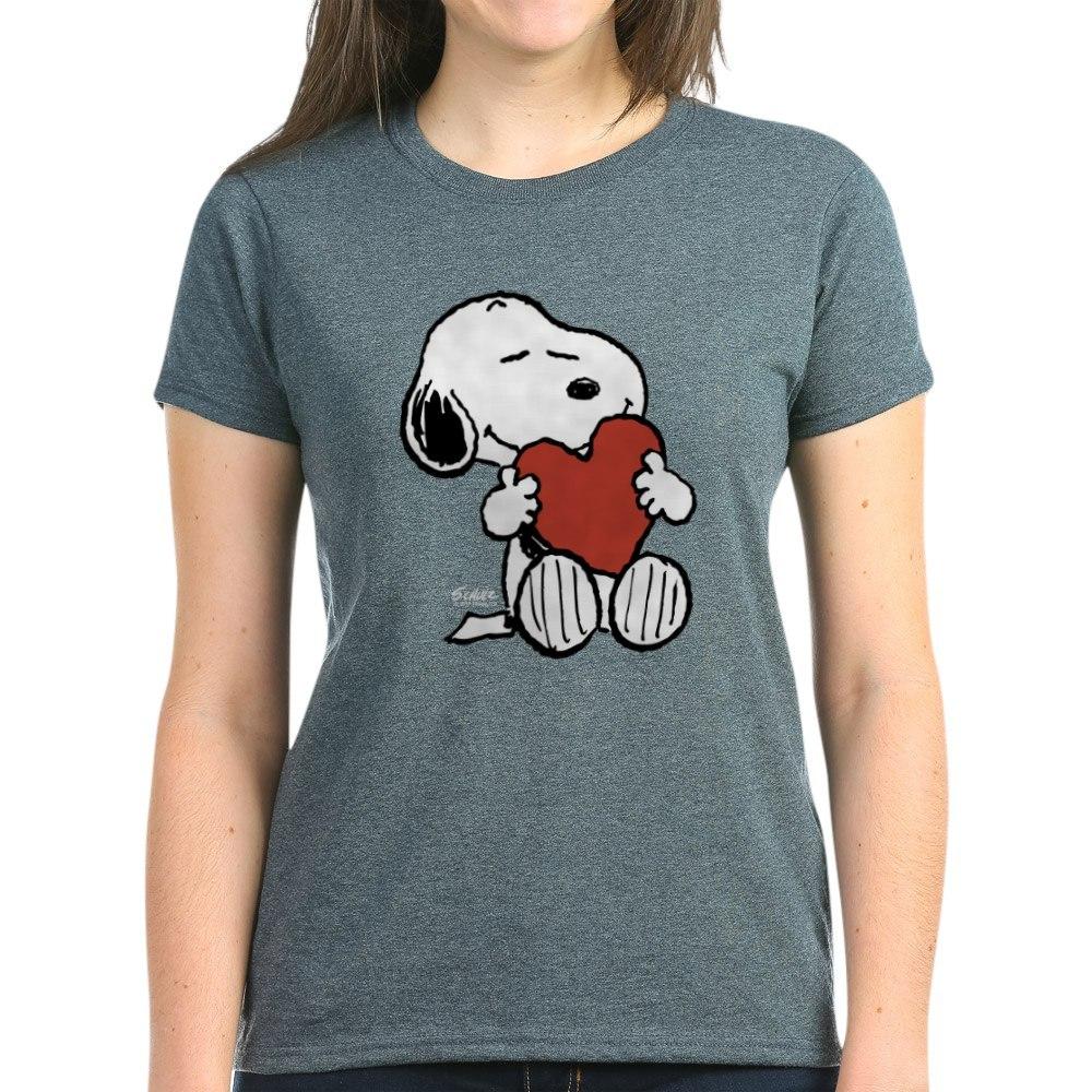 CafePress-Peanuts-Snoopy-Heart-T-Shirt-Women-039-s-Cotton-T-Shirt-181895729 thumbnail 55