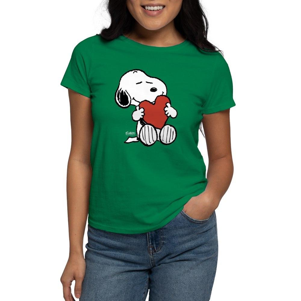 CafePress-Peanuts-Snoopy-Heart-T-Shirt-Women-039-s-Cotton-T-Shirt-181895729 thumbnail 63