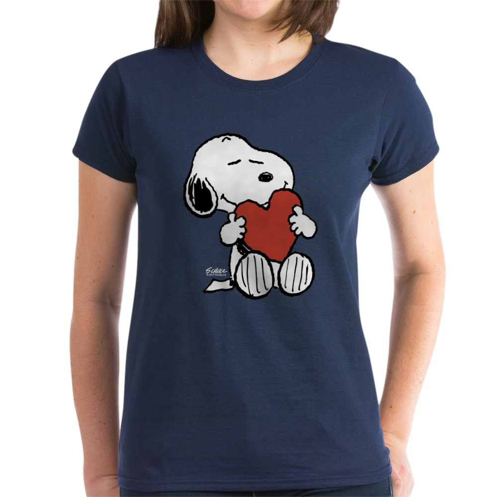 CafePress-Peanuts-Snoopy-Heart-T-Shirt-Women-039-s-Cotton-T-Shirt-181895729 thumbnail 36