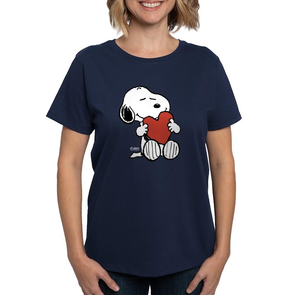 CafePress-Peanuts-Snoopy-Heart-T-Shirt-Women-039-s-Cotton-T-Shirt-181895729 thumbnail 38