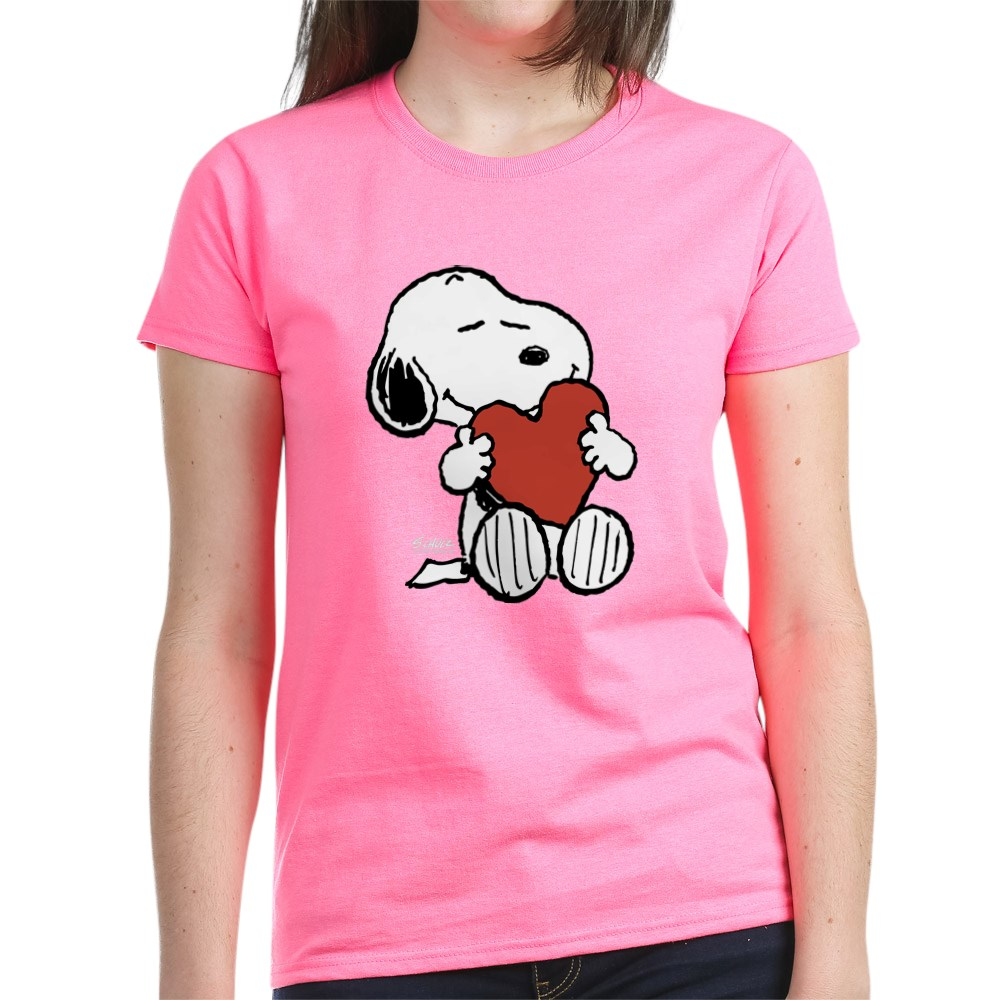 CafePress-Peanuts-Snoopy-Heart-T-Shirt-Women-039-s-Cotton-T-Shirt-181895729 thumbnail 30