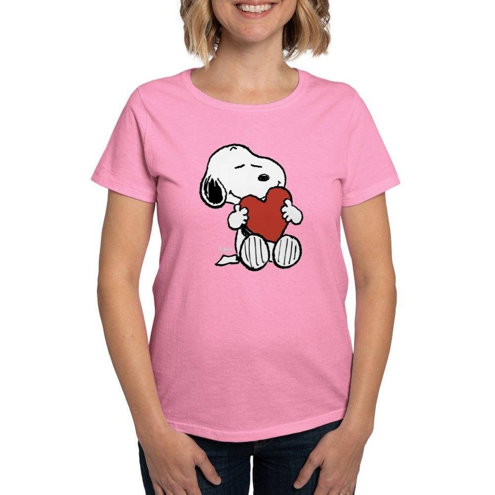 CafePress-Peanuts-Snoopy-Heart-T-Shirt-Women-039-s-Cotton-T-Shirt-181895729 thumbnail 26