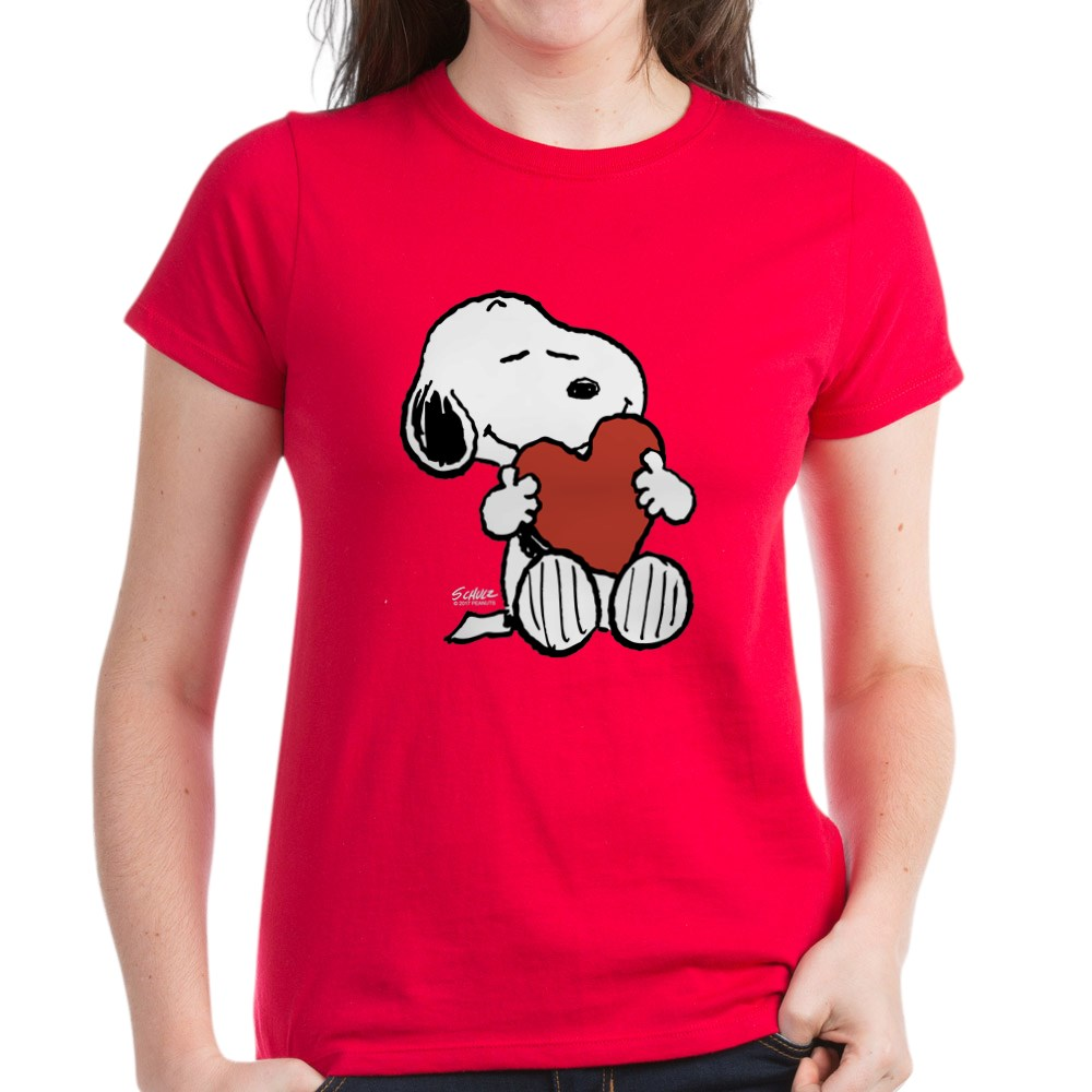 CafePress-Peanuts-Snoopy-Heart-T-Shirt-Women-039-s-Cotton-T-Shirt-181895729 thumbnail 20