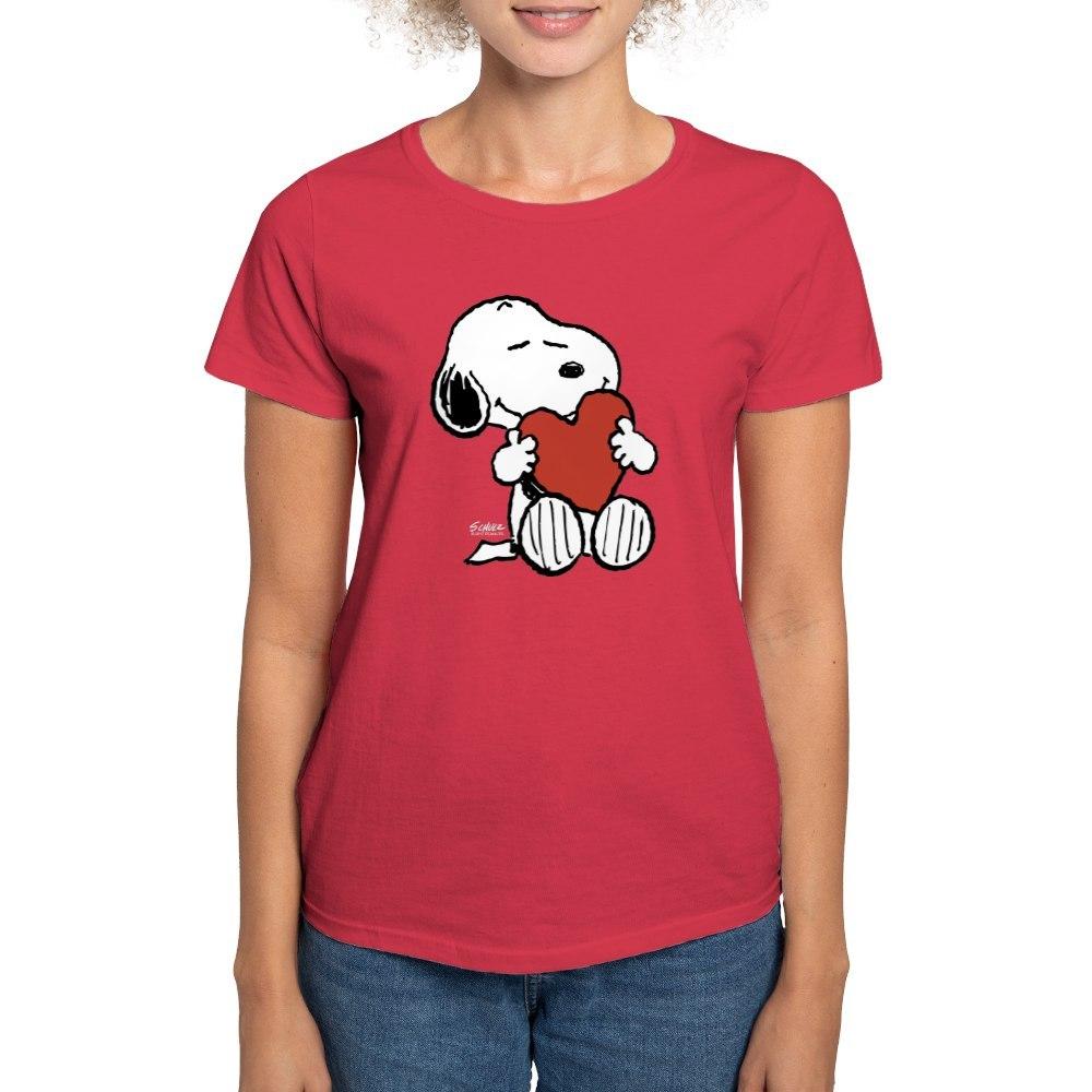 CafePress-Peanuts-Snoopy-Heart-T-Shirt-Women-039-s-Cotton-T-Shirt-181895729 thumbnail 18