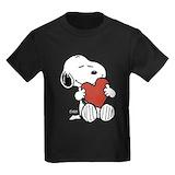 Peanuts valentines day Kids T-shirts (Dark)