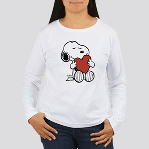 Snoopy on Heart Long Sleeve T-Shirt
