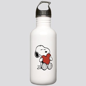 Snoopy on Heart Water Bottle