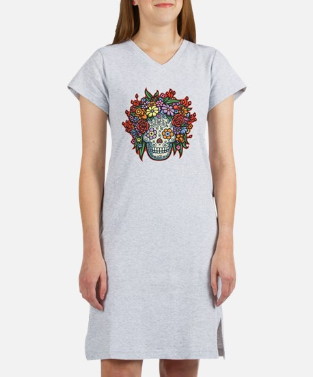 Cute Sugar skull Women's Nightshirt