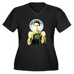 Saint Jimmy Women's Plus Size V-Neck Dark T-Shirt