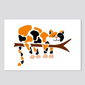 Calico Cat in Tree Postcards (Package of 8)